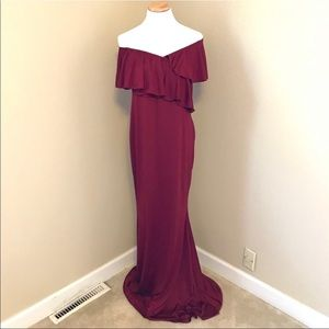 Maternity Dresses - Maternity Off The Shoulder Gown